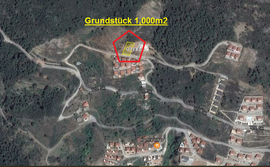 135000 Euro Plot For Sale in Alanya