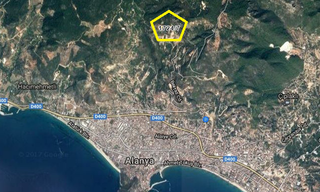 145000 Euro Plot For Sale in Alanya 2
