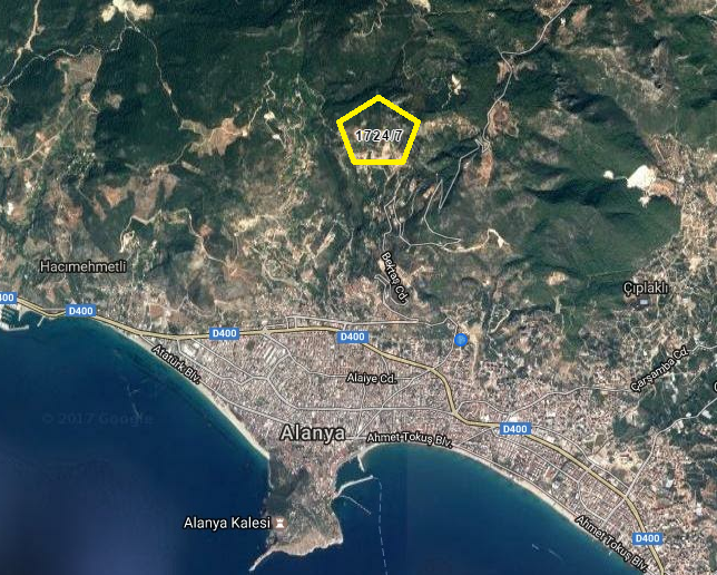 145000 Euro Plot For Sale in Alanya