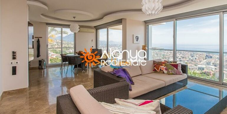149000 Euro Sea View Penthouse For Sale in Alanya 6
