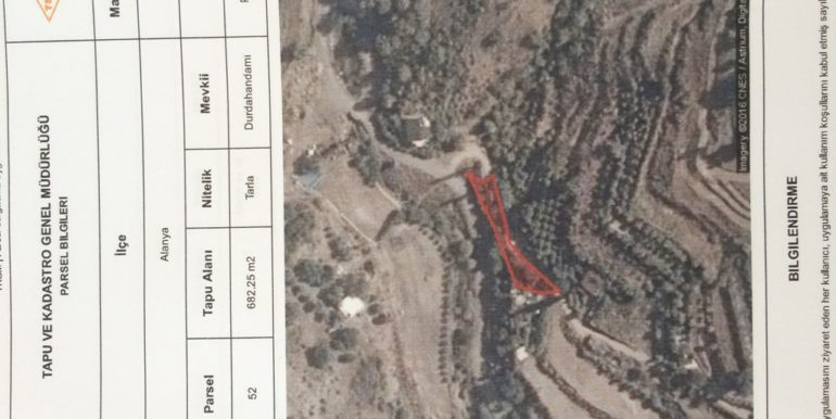 150000 Euro Plot With House For Sale in Alanya Demirtas 35