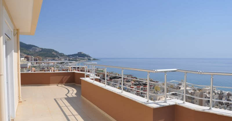 159000 Euro Alanya Sea View Penthouse For Sale