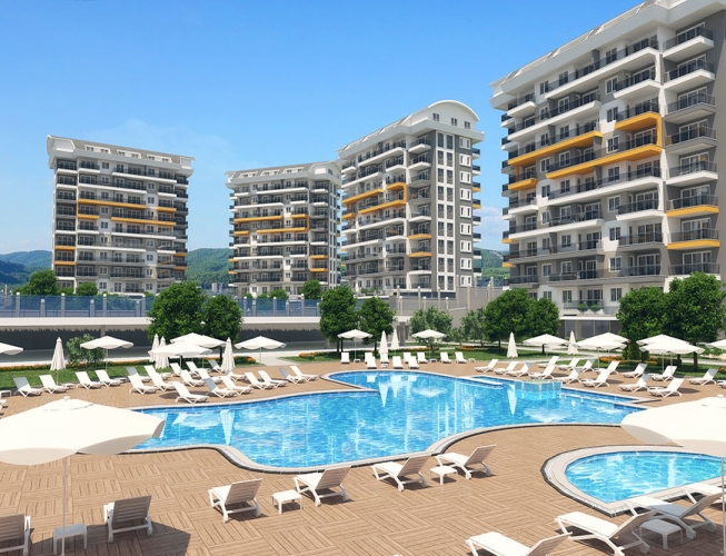 49000 Euro New Apartments For Sale in Alanya