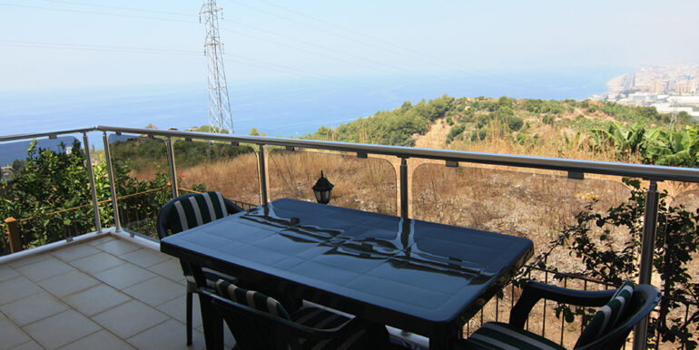 69000 Euro Sea View Apartment For Sale in Alanya 1