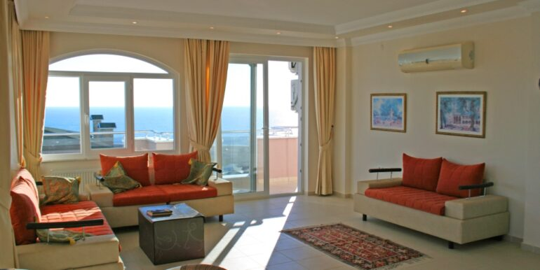 85000 Euro Sea View Apartment For Sale in Alanya 7