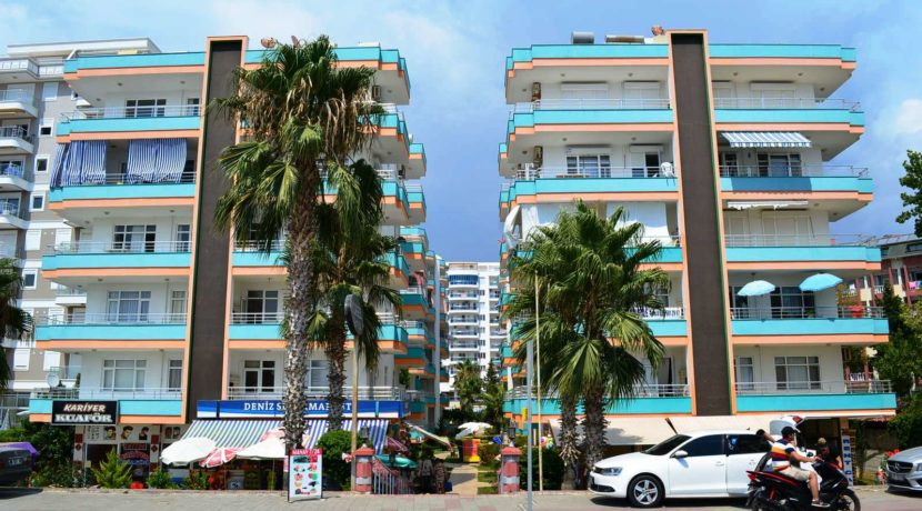 Beachfront appartement te koop alanya mahmutlar 48500 €
