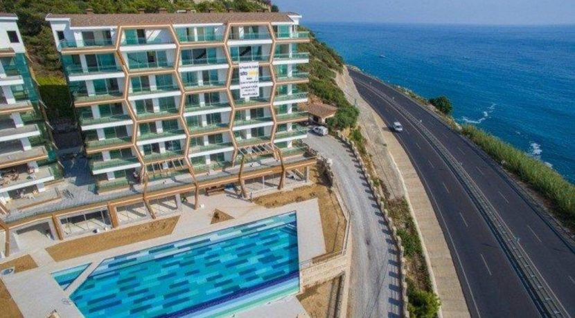 Sea view luxury apartment for sale Alanya 79500 Euro