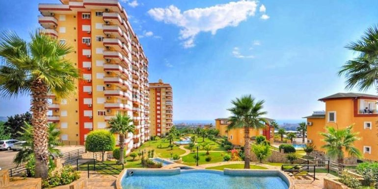 seaview flat alanya with 3 bedrooms for sale 66500 eur
