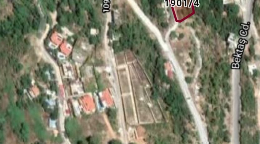 1059 m2 Land Alanya in Tepe Bektas For Sale