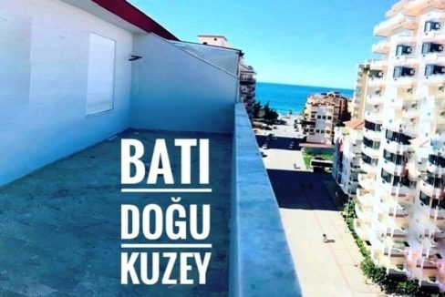 Beachclose Penthouse With Big Roofterrace in Alanya Mahmutlar For Sale