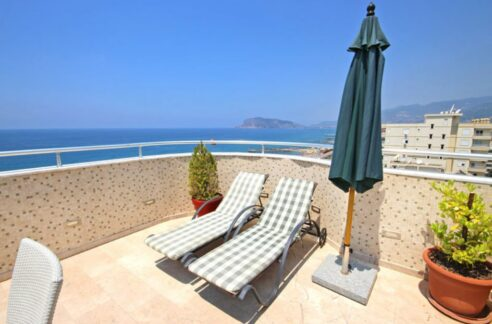 Coastal Penthouse Apartment For Sale From Owner In Alanya Tosmur