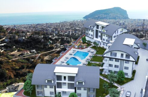 Apartments Project For Sale With Installment In Bektas Alanya