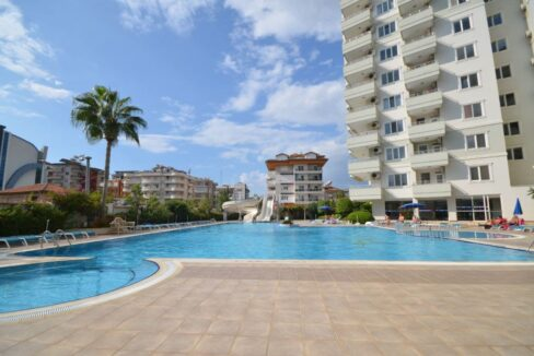 Beach Close Furnished 3 Room Apartment For Sale In Oba Alanya