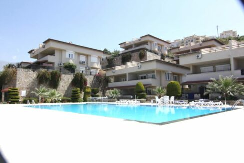 Ocean View Duplex Apartment For Sale In Alanya Kargicak