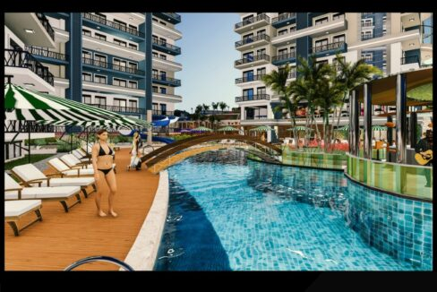Ongoing Apartment Project For Sale Mahmutlar Alanya