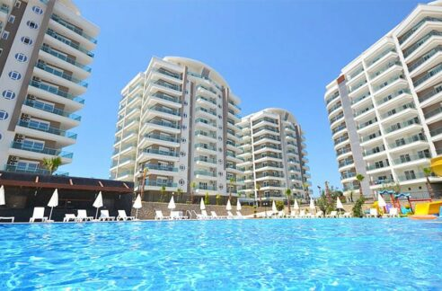 Sea View 3 Room Apartment For Sale In Avsallar Alanya