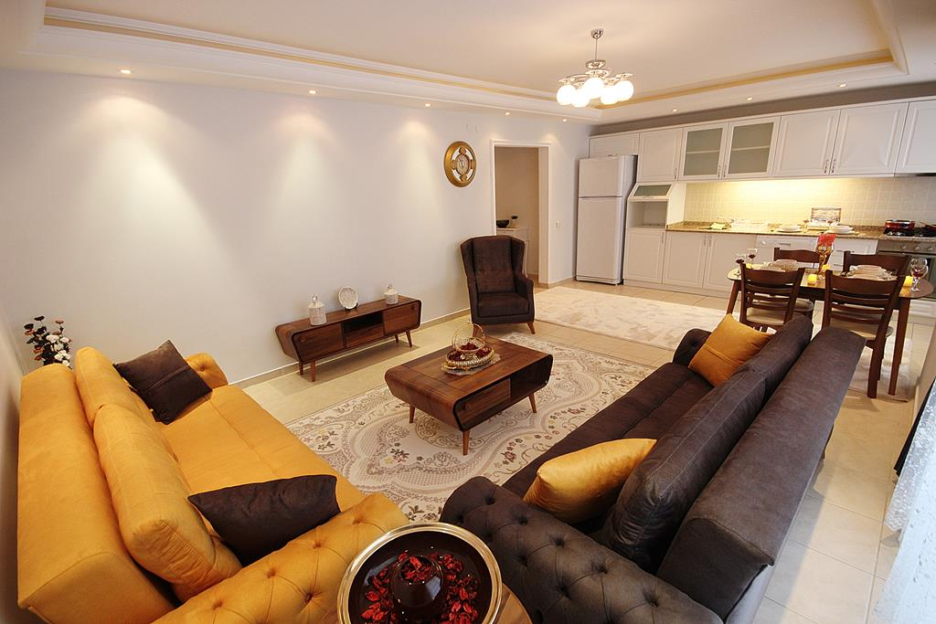 3 Rooms Furnished Apartment With Sea, Furnished Living Rooms