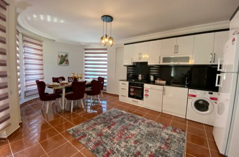 4 Room Furnished Villa In Alanya Kargıcak With Common Swimming Pool