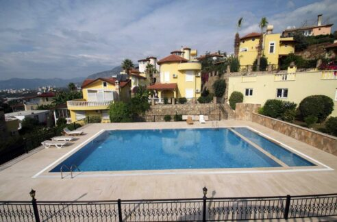 Cheap Furnished Duplex Villa With Seaview For Sale In Alanya