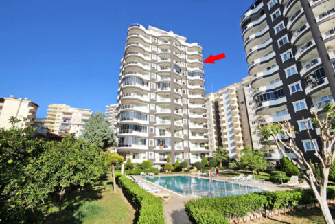 2 Bedroom Furnished Property With Seaview For Sale In Alanya Mahmutlar