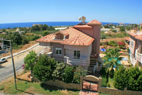 5 Bedroom Duplex Villa With Seaview For Sale In Alanya Demirtas