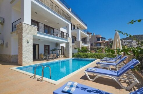 5 Bedroom Furnished Exclusive Villa With Direct Seaview For Rent In Antalya Kalkan
