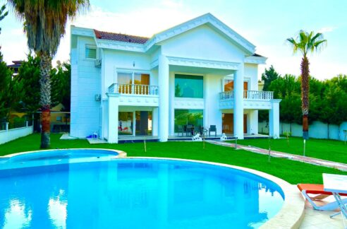 5 Bedroom Furnished Private Villa For Sale In Antalya Belek Close To Golf Courses