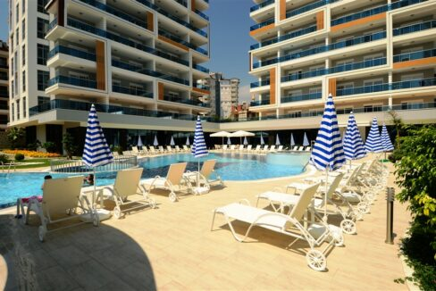 Duplex Furnished Penthouse With Sea View For Sale In Alanya