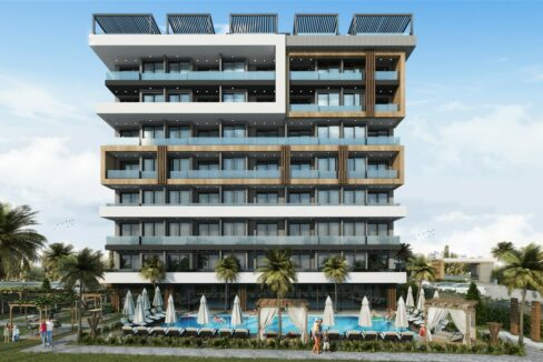 New Residential Apartment Project In Alanya Avsallar With Installment Plan