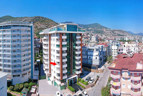 Furnished Modern Apartment With Seaview In Alanya Center