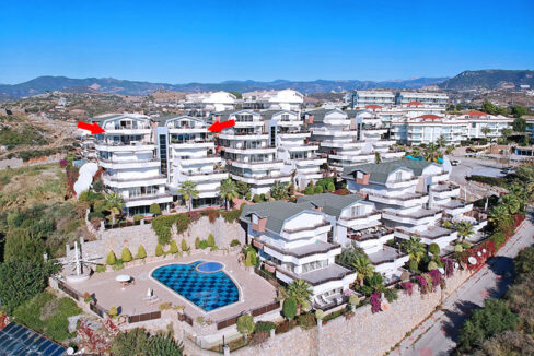 8 Bedroom Twin Penthouse For Sale In Alanya With Direct Seaview
