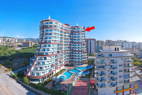 Deluxe Penthouse With Seaview For Sale In Alanya Mahmutlar