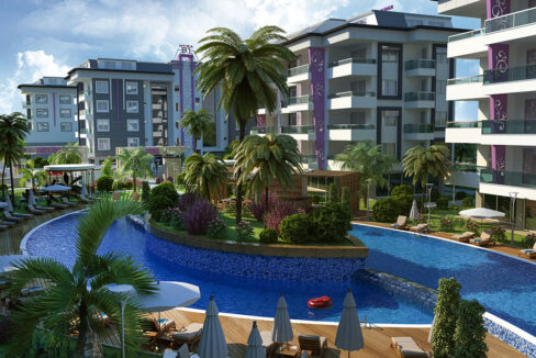 Furnished Residential Apartment For Sale In Alanya Kestel