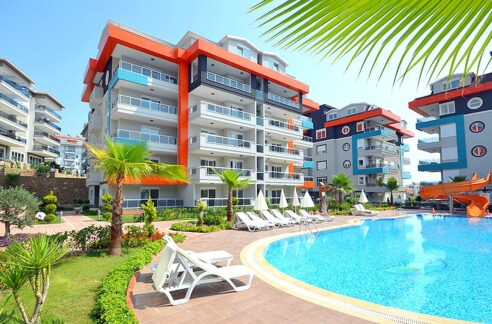 One Bedroom Furnished Flat For Sale In Kestel Residence Alanya