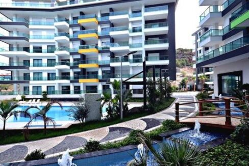 1 Bedroom Luxury Furnished Seaview Flat For Sale In Alanya
