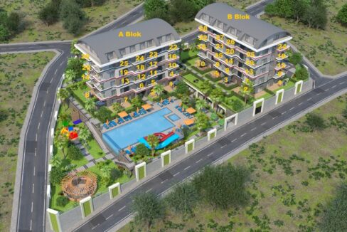 Ongoing Project In Green Environment In Alanya Kargicak