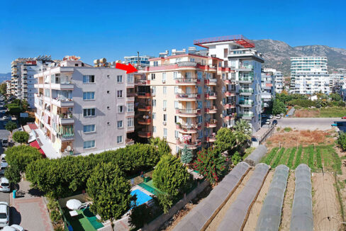 Furnished Three Bedroom Apartment For Sale In Alanya Close To Beach